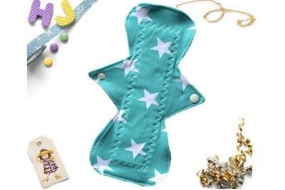 Buy  Single Cloth Pad Mint Stars now using this page